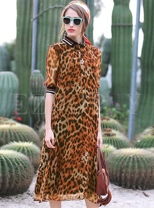 9f496a41a3 Maxi Dresses.   Sexy Loose Leopard Print Dress
