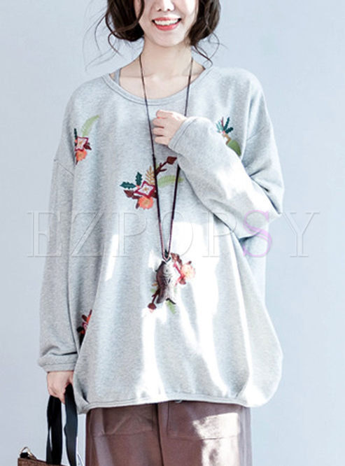 Casual Loose Print Cotton T-shirt