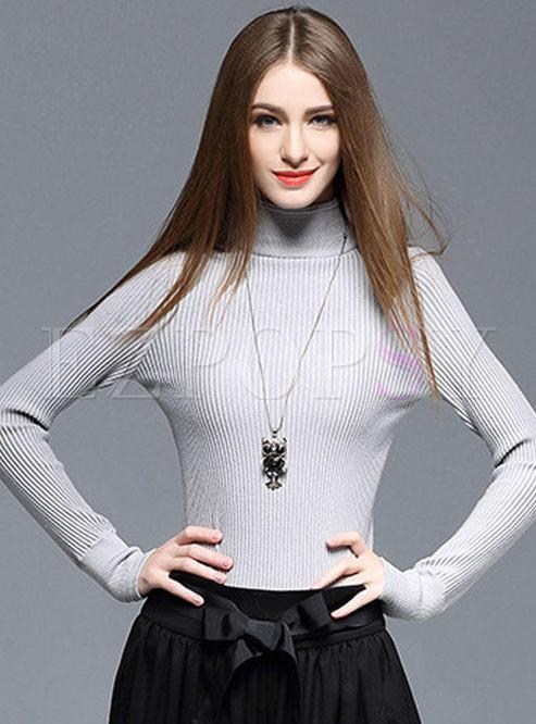 Temperament Turtleneck Wool Slim Sweater