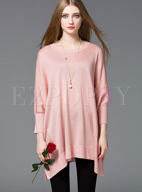 Fashion Loose Pure Color Sweater