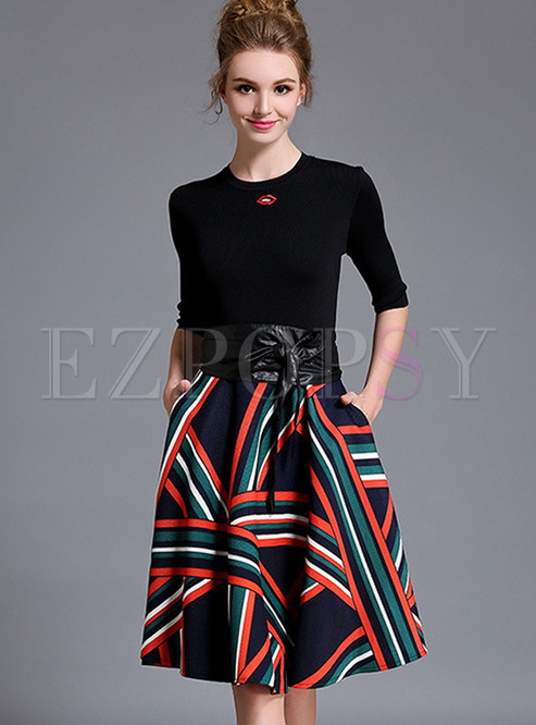 Elegant Slim Top & A-line Skirt Suits | Ezpopsy.com