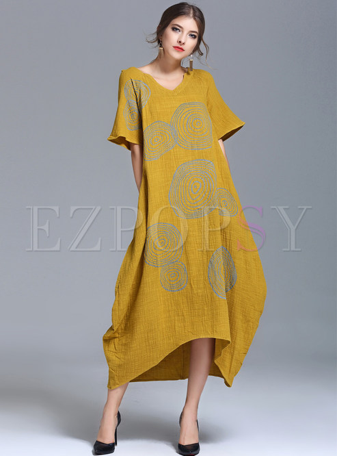 Casual Loose Dress with Sleeves
