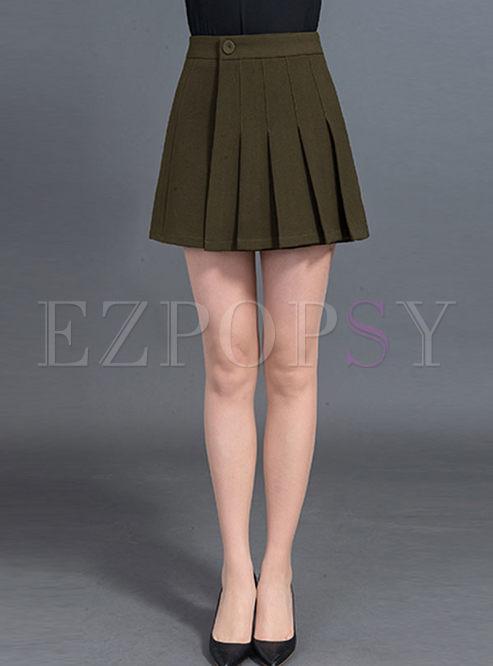 Stylish Asymmetric Slit A-line Skirt