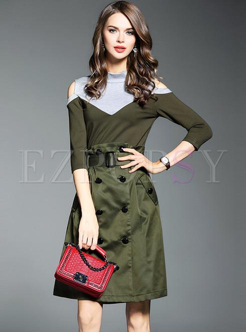 ef8cba6f77af8d Two-piece Outfits.   Slim Off Shoulder Top ...