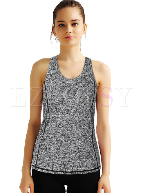 Fake Two Piece Dry Fit Sport Tanks