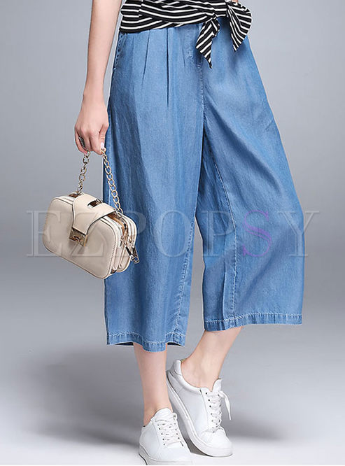 4131fd20c38b Pants casual loose straight loose denim wide leg pants jpg 493x666 Denim  wide leg pants