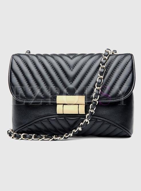 Small Chain Clasp Lock Crossbody Bag