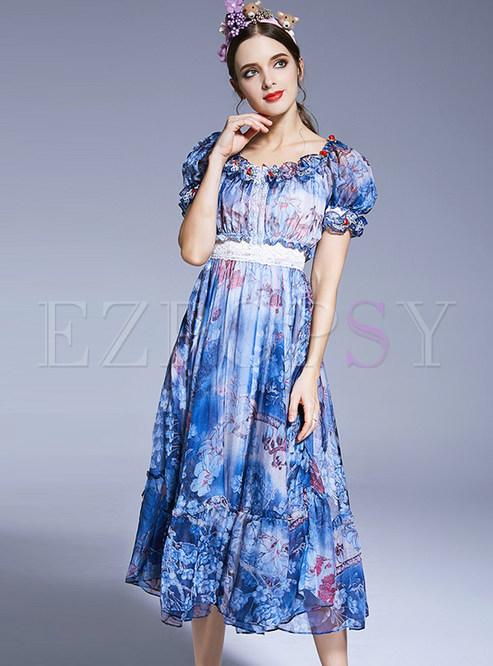 12e466d1397 Maxi Dresses.   Chiffon Floral Print ...