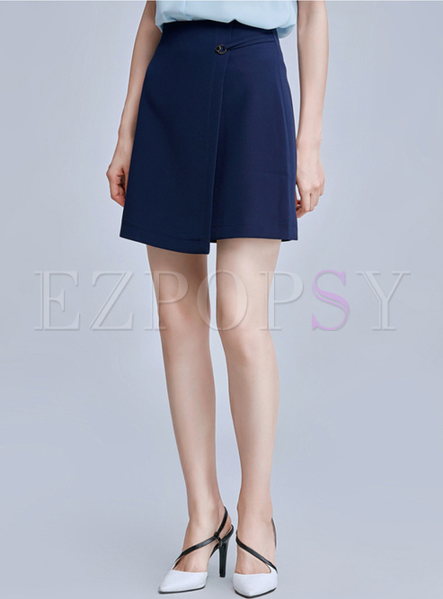 work high waist asymmetric skirt ezpopsy