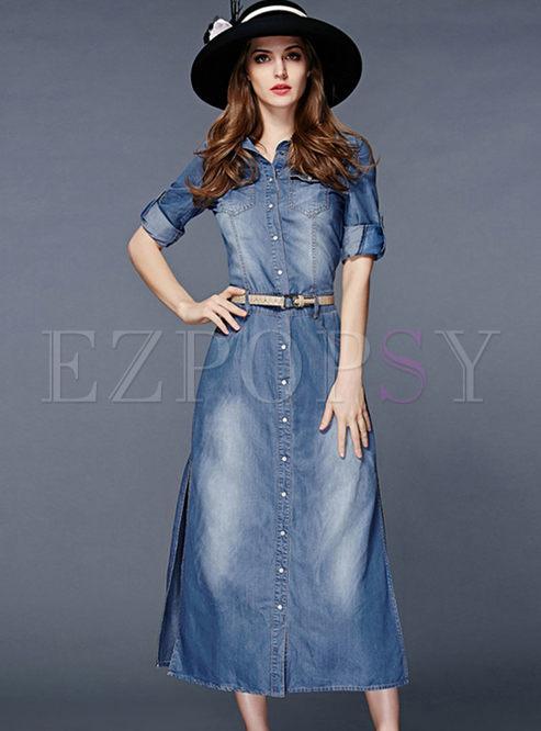 Maxi dress jeans