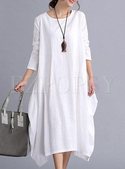 0c9870f900c3 Shift Dresses.   Brief Long Sleeve Loose ...