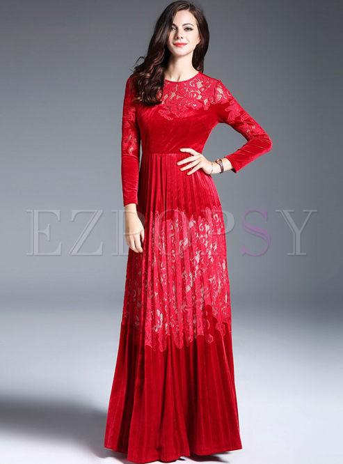 Lace Long Maxi Dress