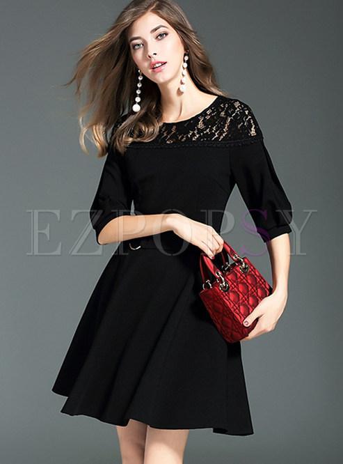 145ce3fba8 Skater Dresses.   Black Stylish ...