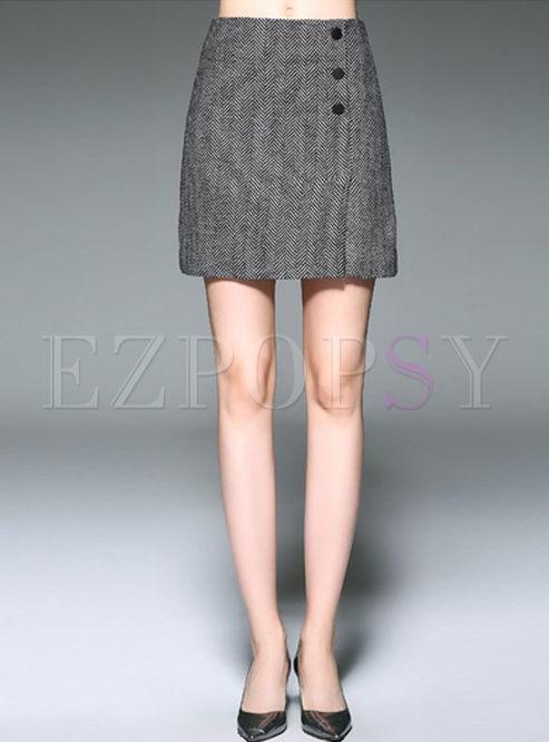 19d183c044 Skirts   Skirts   Grey Work Slit High Waist Bodycon Skirt