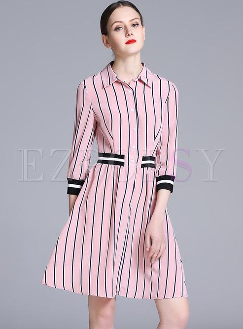 be77826ea62f Skater Dresses.   Pink Striped ...