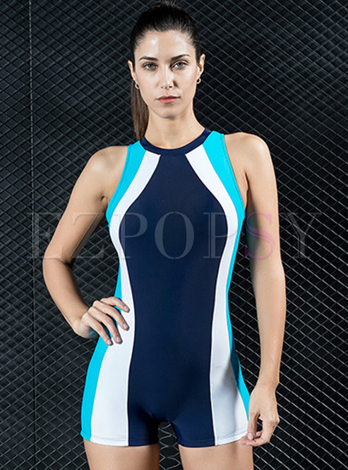 Striped Hit Color Sheath Swimwear