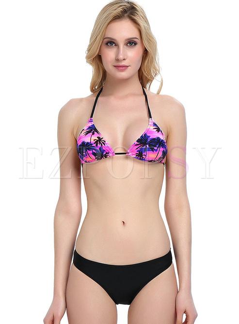 Sexy Print Triangle Micro Bikini
