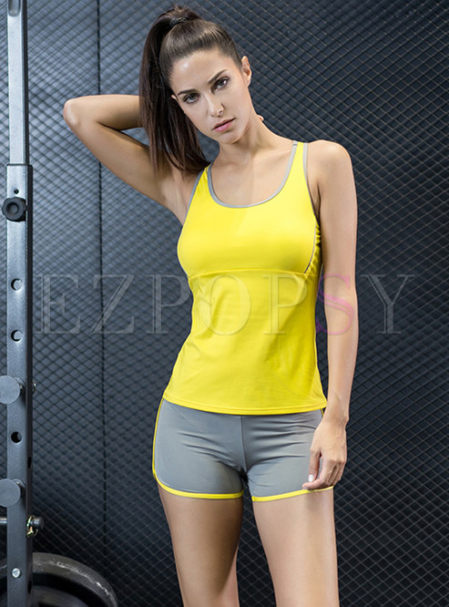 Brief Sleeveless Running Short Fitness