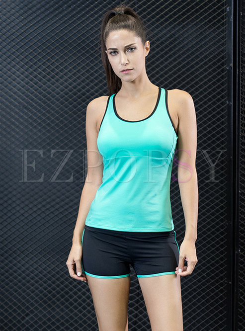 Brief Sleeveless Running Short Fitness