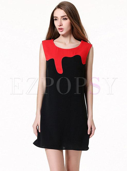 8d7fdfded1 Skater Dresses.   Stylish Black-red ...