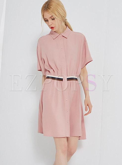 52c484426829 Skater Dresses.   Fashion Pink Retro Striped ...