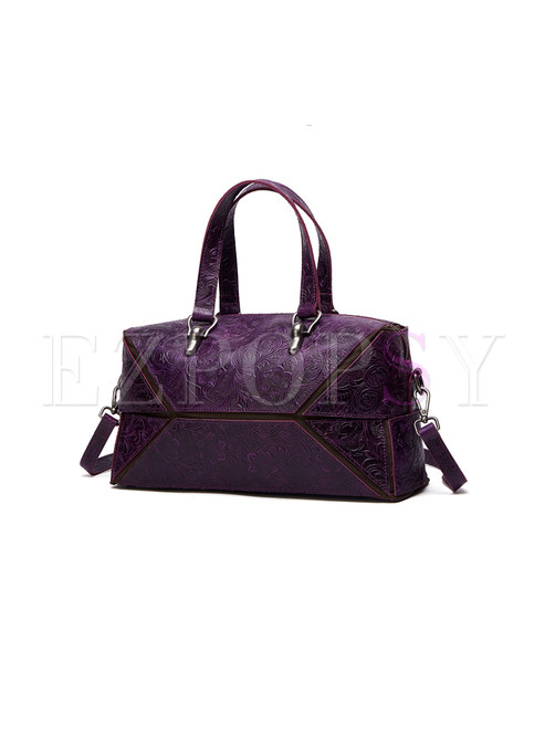 Work Embossing Cutting-design Top Handle Bag