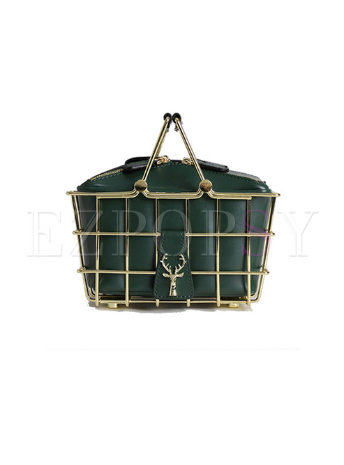 Chic Removable Metal Box Bag