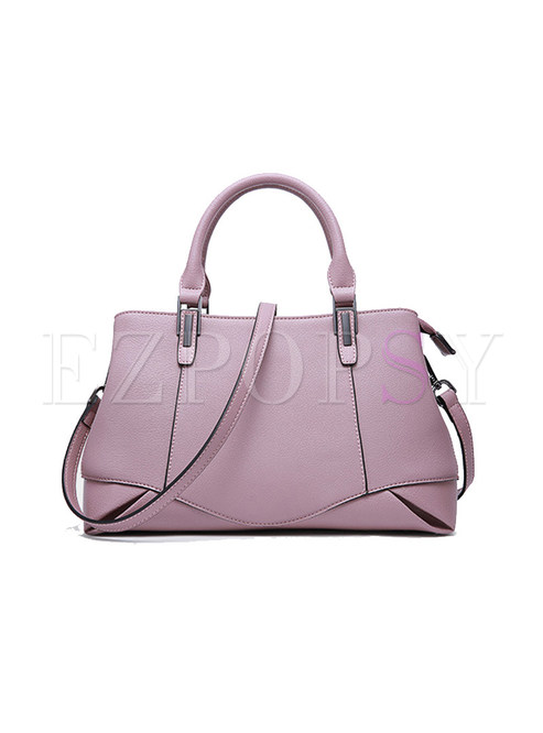 Elegant Split Cowhide Top Handle Bag