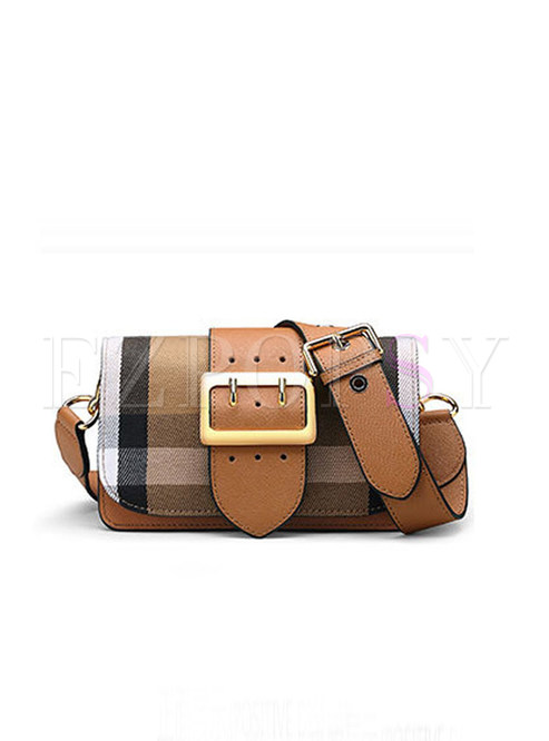 Stylish Wide Shoulder Strap Satchel & Crossbody Bag