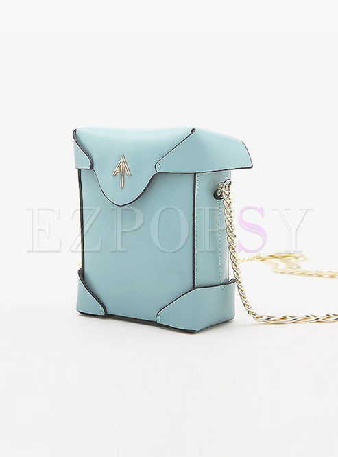 Chic Genuine Leather Chain Crossbody Bag