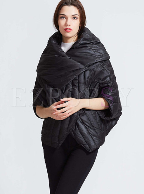 Stylish Winter Pure Color Double-sided Down Coat