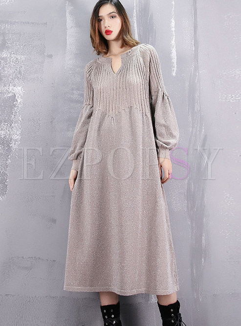 dbb3d0732a6 Knitted Dresses.   Plus Size Long Sleeve ...