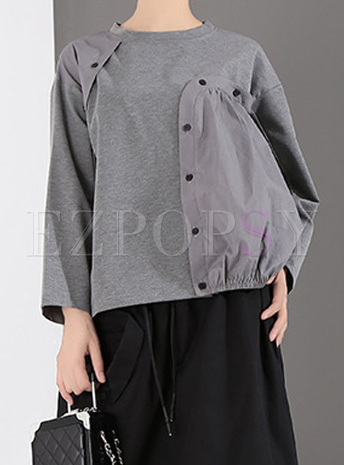 Winter Buttoned Easy-matching Loose Hoodies