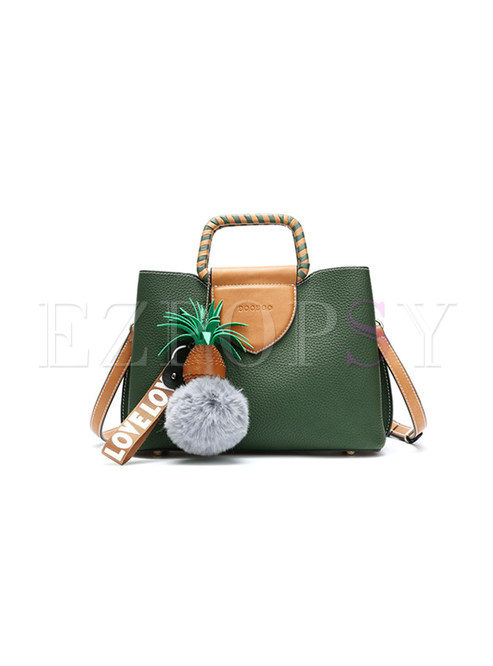 Fashion Casual PU Crossbody Bag With Decoration