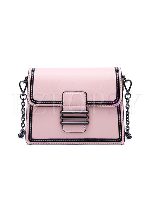 Stylish Color-blocked Accordion Easy-matching Tote & Crossbody Bag