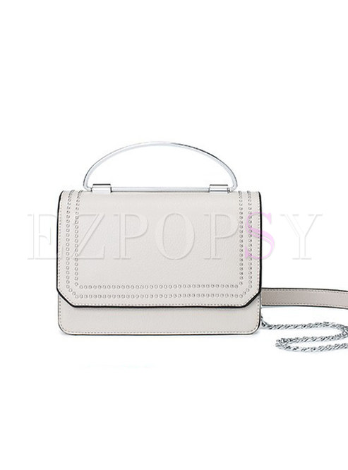 Brief All-matched Magnetic Lock Open-top Top Handle Bag