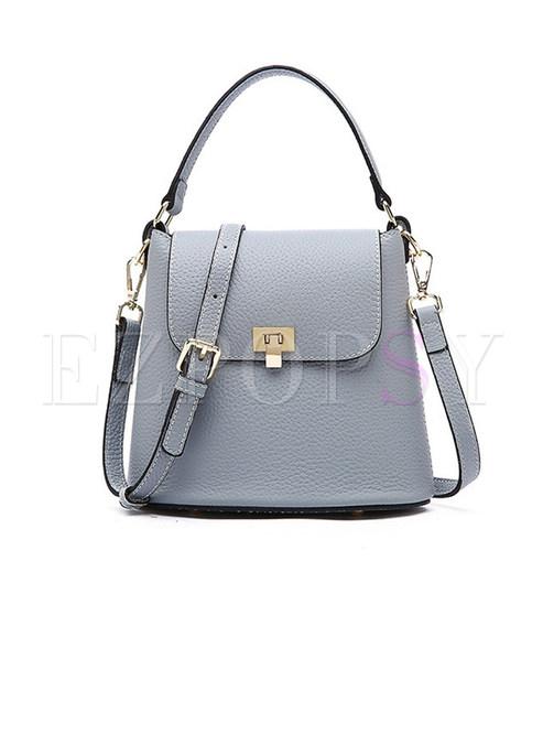 Fashion Leather Easy-matching Bucket Crossbody Bag
