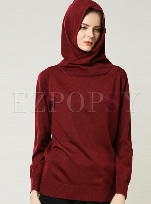 Fashion Loose Hooded Long Sleeve Sweater