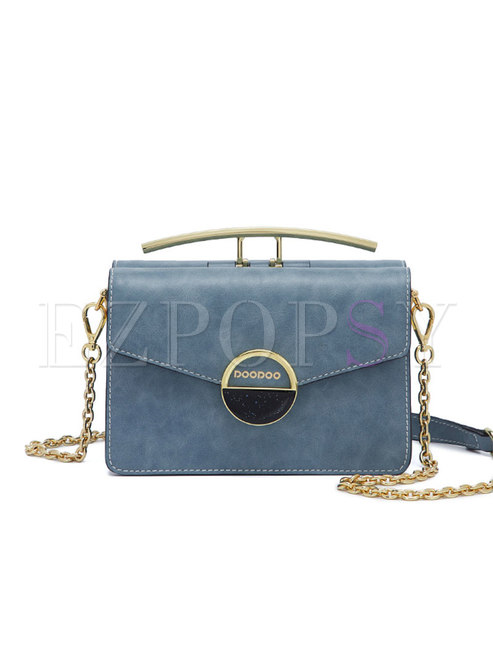 Stylish Blue Accordion-shape Easy-matching Crossbody Bag