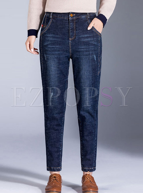 Trendy High Waist Thicken Thermal Casual Harem Pants