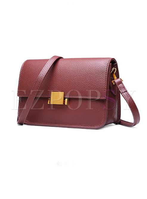 2fce4cbf936e Bags.   Retro Push Lock Cowhide Crossbody Bag