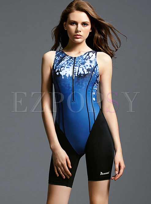 Casual Backless Sleeveless One Piece Swimwear