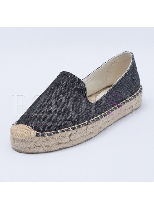 Casual Color-blocked Flat Heel Comfortable Loafers