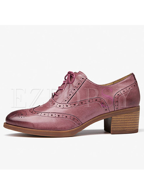 Women Daily Spring/fall Chunky Heel Shoes