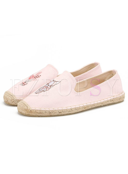 Cute Pattern Breathable Fisherman Shoes