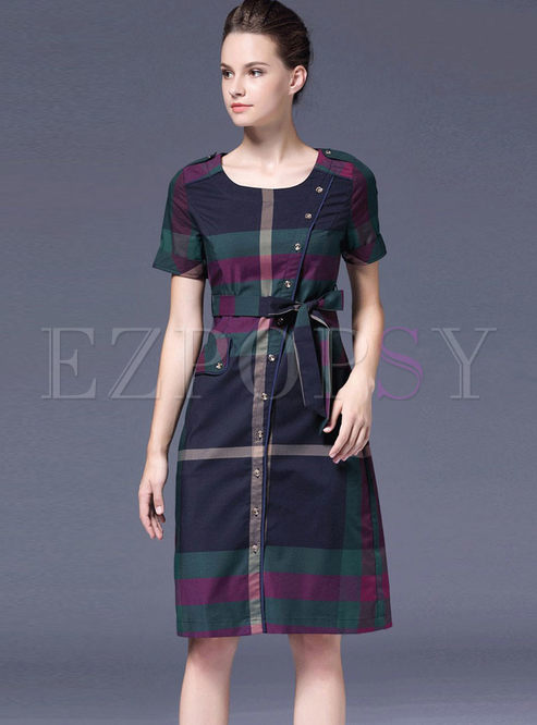 Fashion Irregular Short Sleeve A Line Dress
