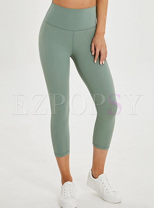 Pure Color Dry Fast Elastic Slim Fitness Pants