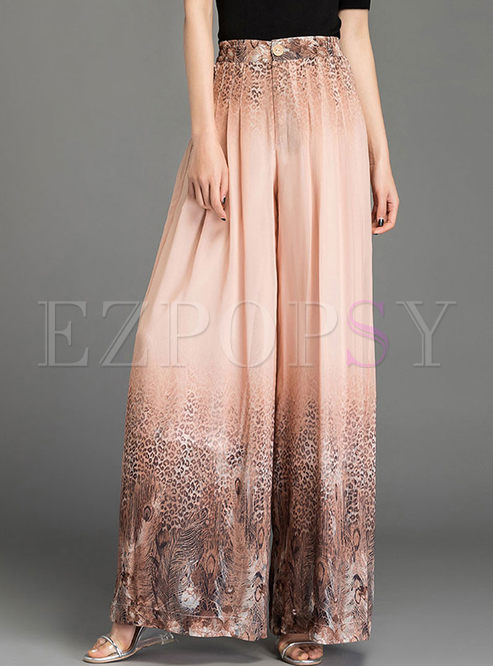 Bohemian High Waist Loose Wide Leg Pants