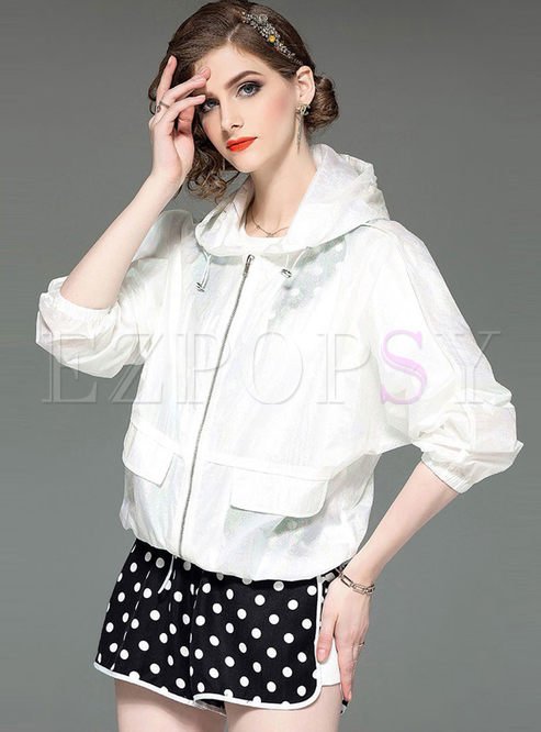 Solid Color Long Sleeve Short Coat