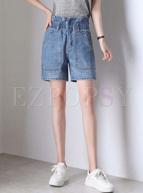 High Waist Denim All-matched Short Pants